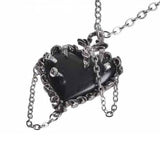 Witch Heart: Black Pewter Pendant With Spike Inserted | Happy Piranha