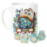 Dungeons and Dragons (DnD) Customisable Class (Wizard) Dice Mug | Happy Piranha