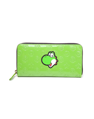 Super Mario Yoshi Embossed Bifold Clutch Purse | Happy Piranha