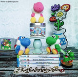 Nintendo Yoshi inspired scented candle by Happy Piranha.