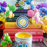 Yoshi long island iced tea scented candle inspired by nintendo.