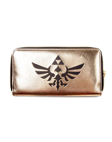 Black and Gold Mirror Zelda Triforce Clutch Purse | Happy Piranha