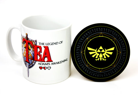 Legend of Zelda Mug & Coaster - Geeky Gaming Gifts by Happy Piranha