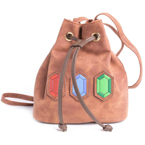 Legend of Zelda Rupees Pull Cord Backpack Front Design | Happy Piranha