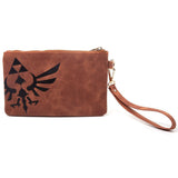 Legend of Zelda Rupees Clutch Purse/Bag Back Design With Triforce | Happy Piranha