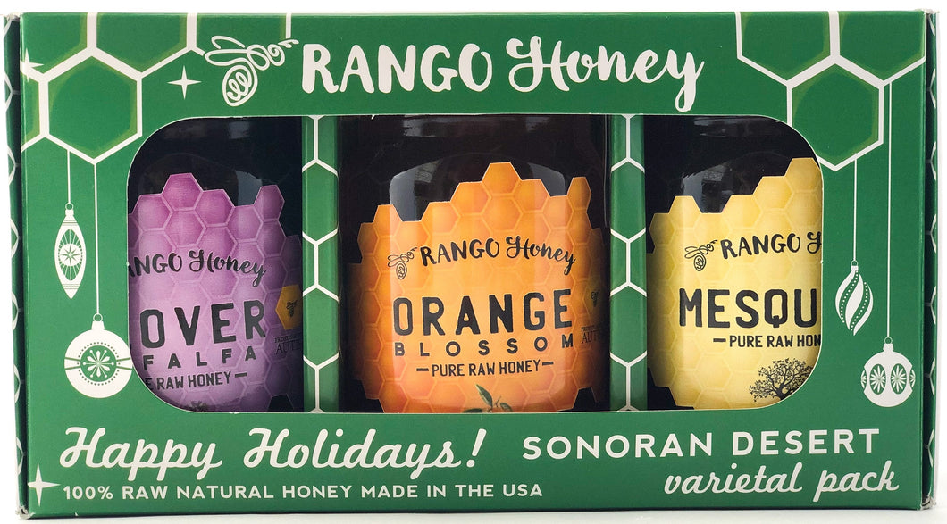 100% All Natural Sonoran Honey-Green Christmas Gift Pack