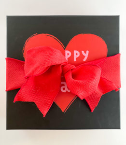 Black and Red Valentines Day Gift Box
