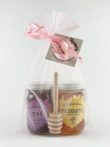 6 oz. Gift Bag Duo Set with Honey Dipper