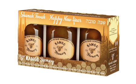 100% All Natural, Kosher Honey for Rosh Hashanah | Honey Gift Box- 3 Pack