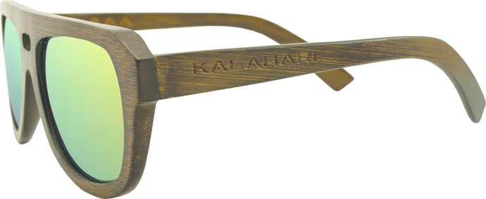 Brown Bamboo + REVO Yellow Polarized