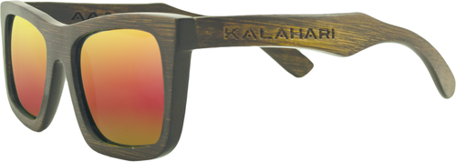 Brown Bamboo + REVO Orange Polarized