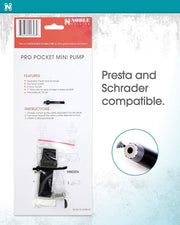 Portable Mini Air Inflator Pro Hand Pump  with Mount Kit – Fits both Schrader and Presta Valve