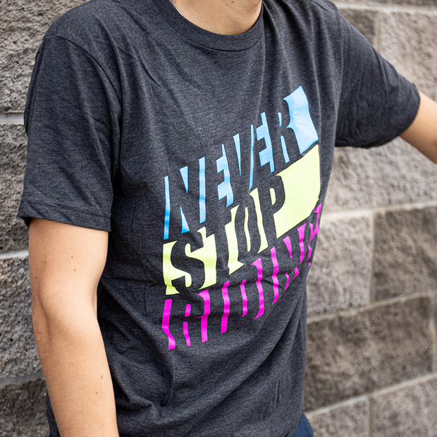 Never Stop Riding T-Shirt Colorful