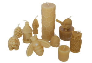 Beeswax candles pure animals