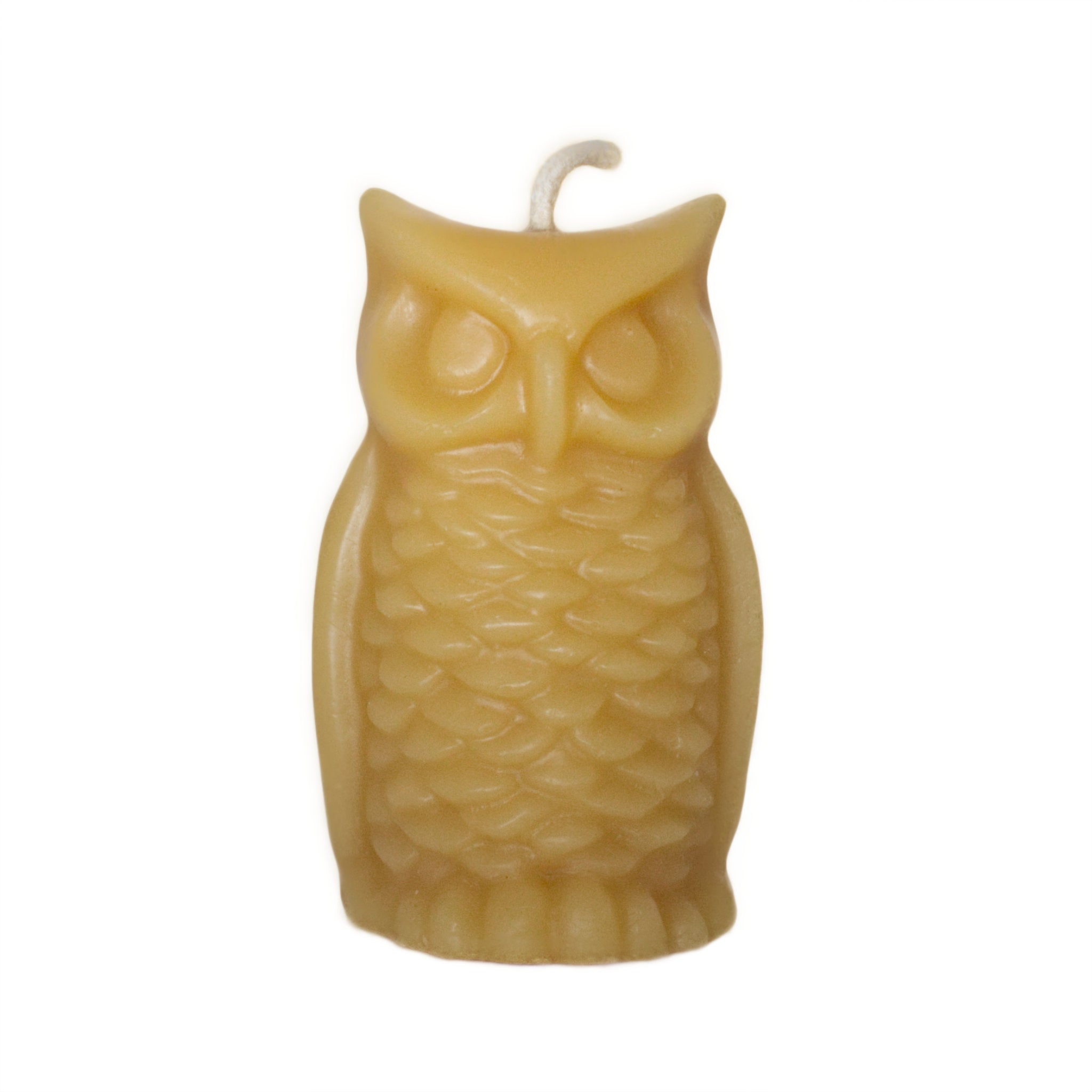 Beeswax candle owl ornamental