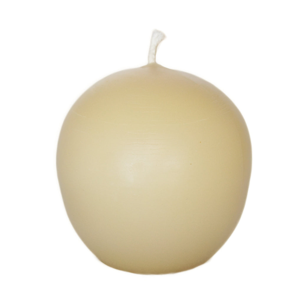 Beeswax candle sphere yellow