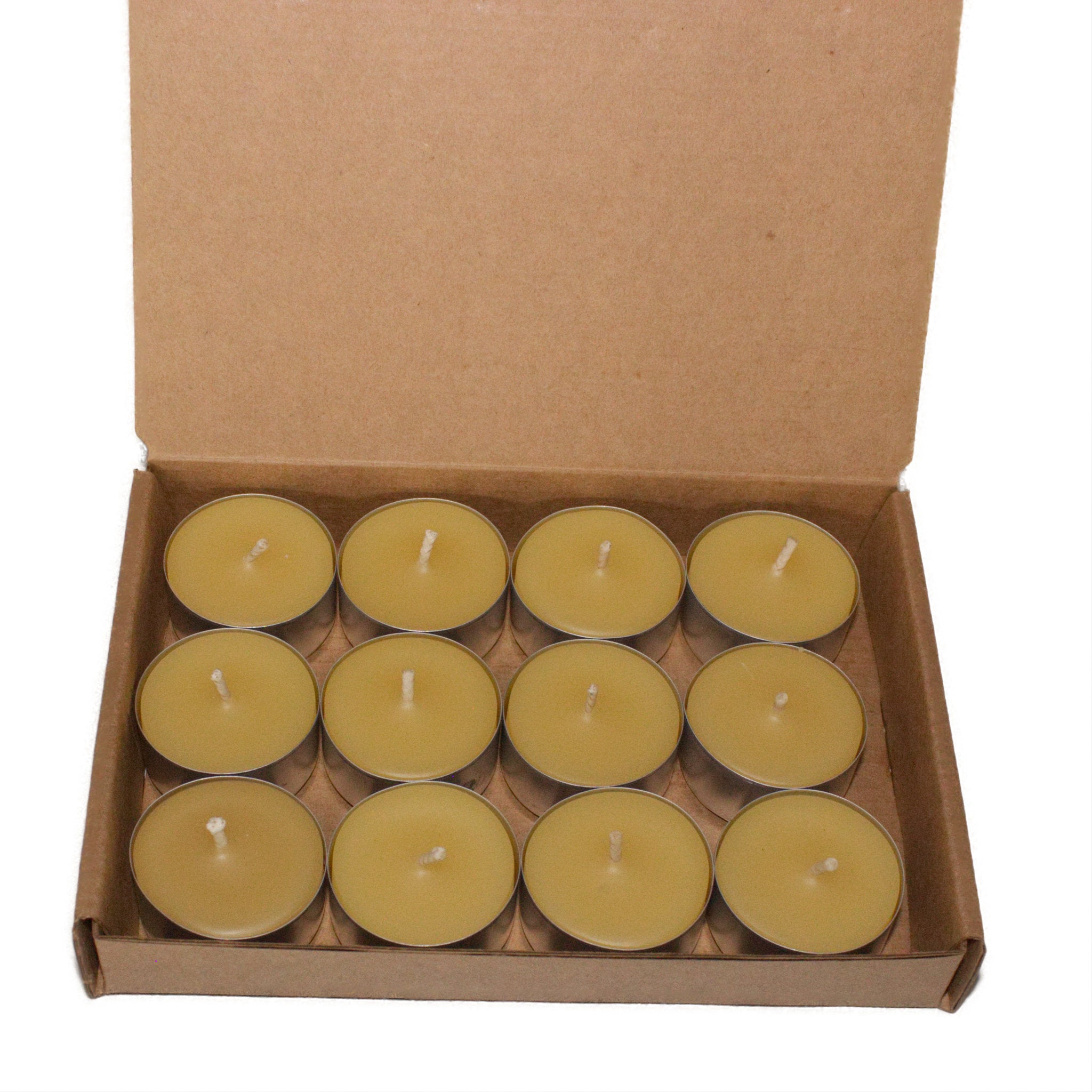 Beeswax candle tealights dozen