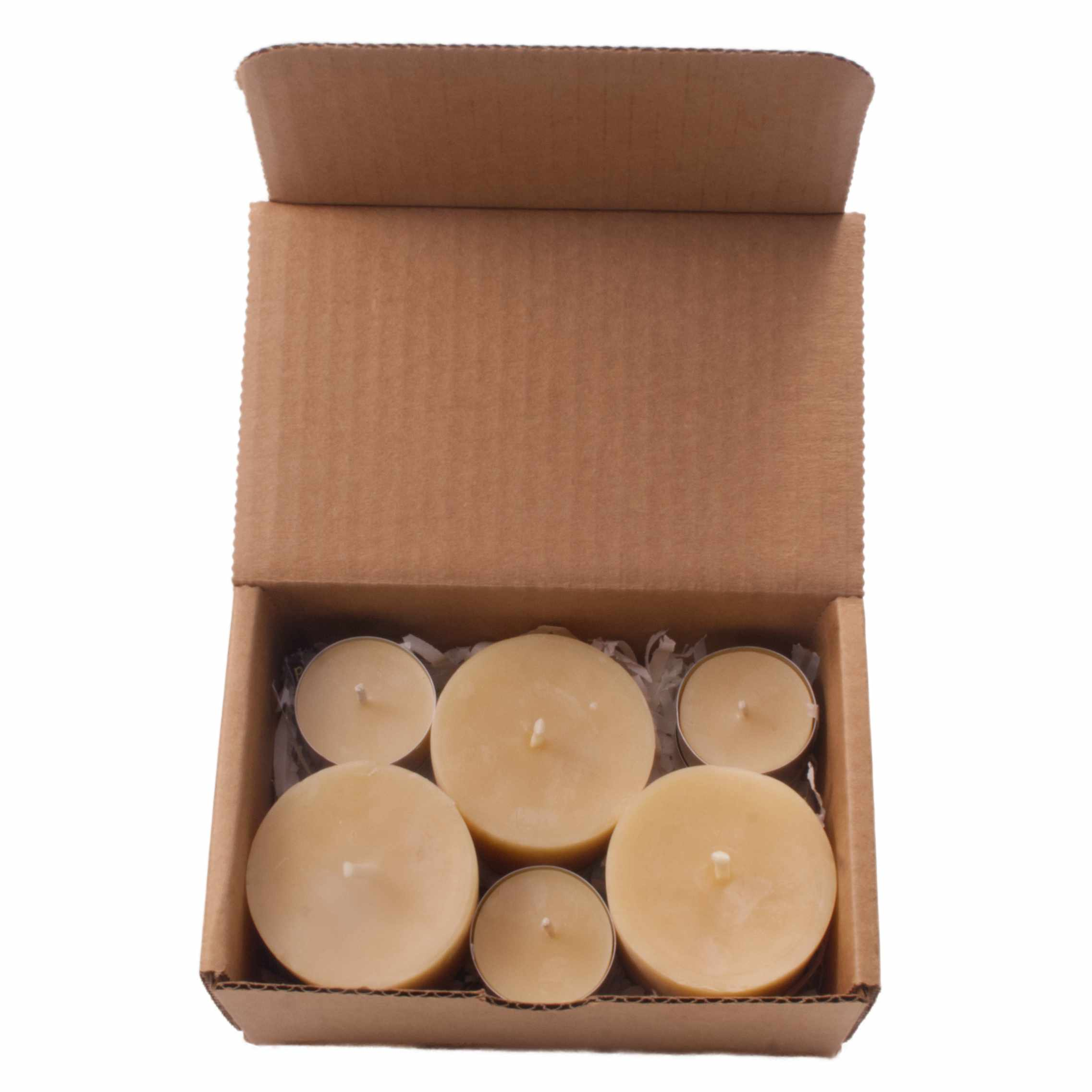 Candles beeswax variety pack