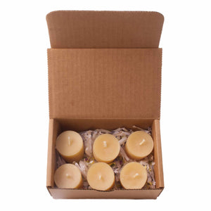 Beeswax Candles  Votive 6 Pack