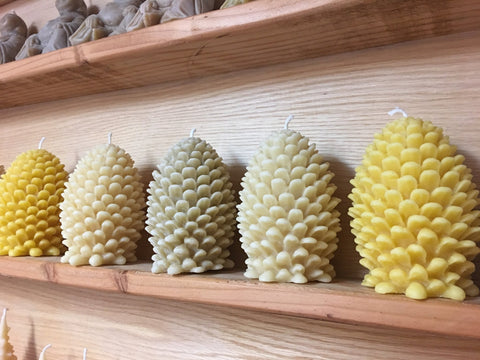 Beeswax Large Pinecone Candle