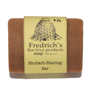Shaving bar Soap rhubarb natural