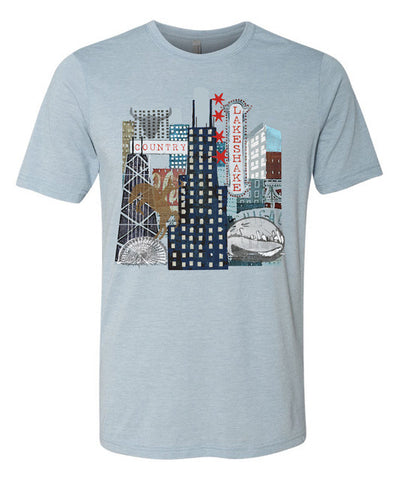 City Collage Tee