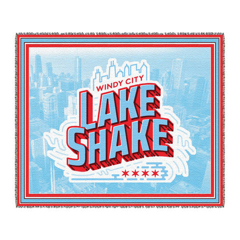 "Windy City Lake Shake 50 x 60"" Woven Tapestry Blanket"