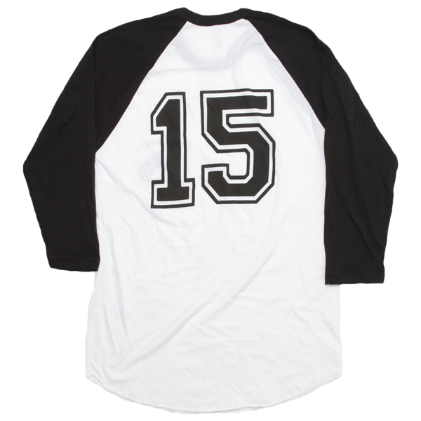 LS 15 Black/White Baseball Tee