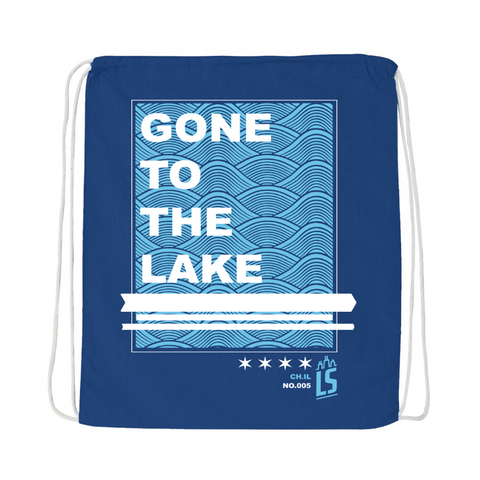 Gone To The Lake Cinch Bag