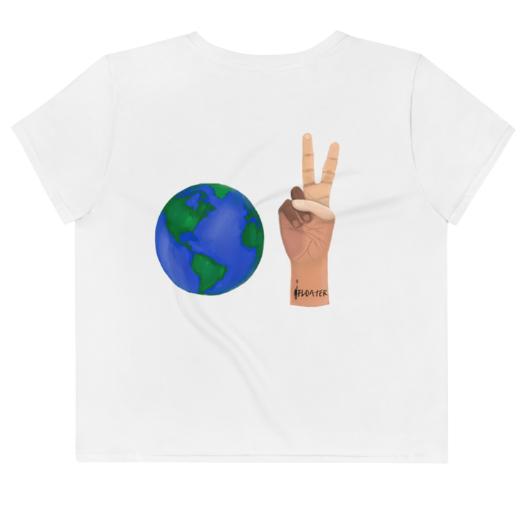 World Peace LTD Flowy  Crop Top Tee