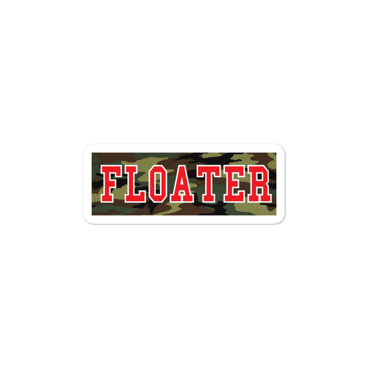 Red and Camo Floater Bubble-free sticker