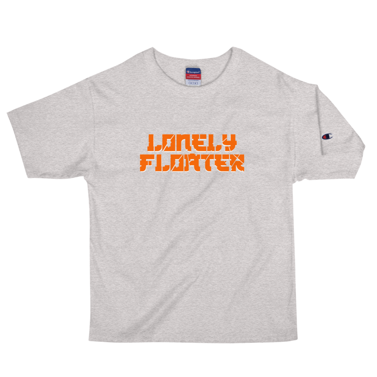 Orange Lonely Floater Men's Champion T-Shirt freeshipping - Lonely Floater