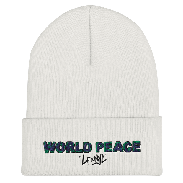 World Peace Cuffed Beanie
