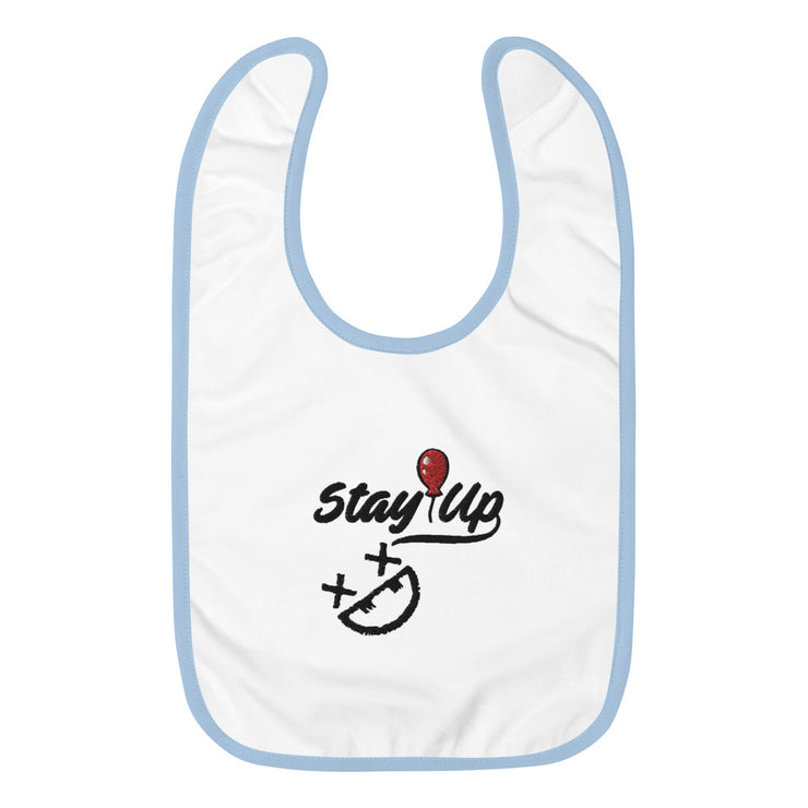 Stay Up Embroidered Baby Bib