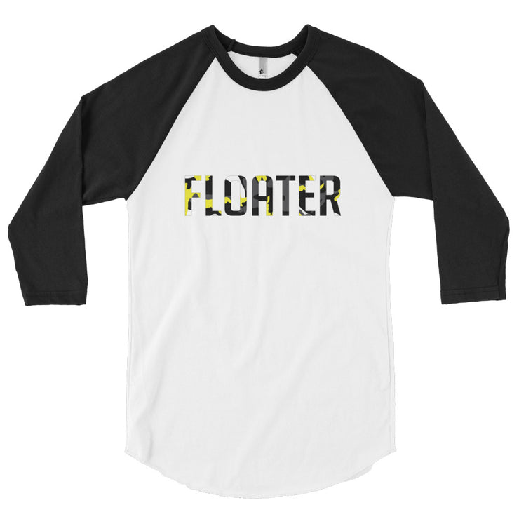 Camo Floater 3/4 sleeve raglan shirt