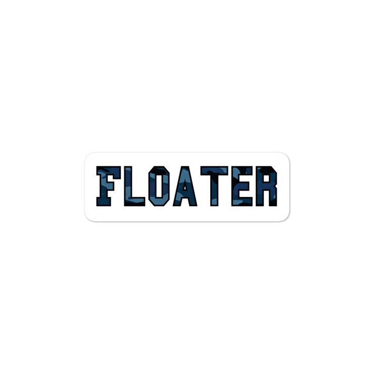 Blue Camo  Floater Bubble-free stickers