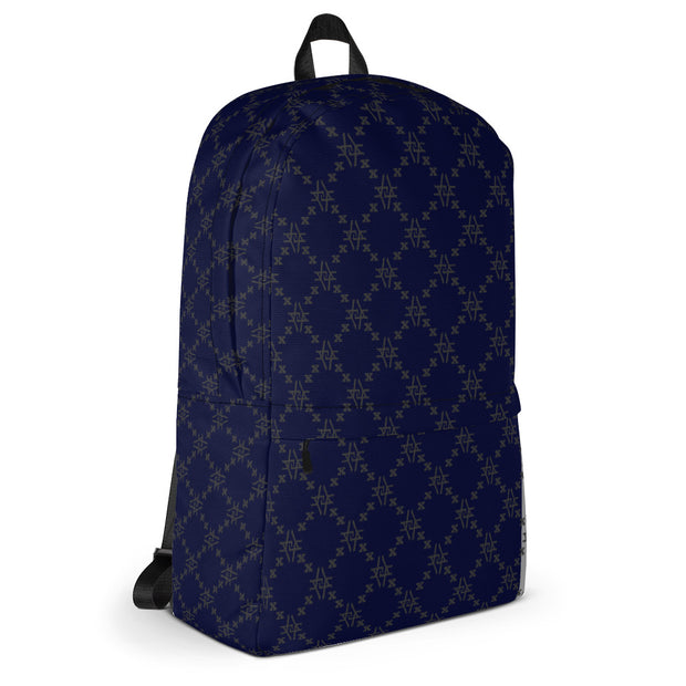 Dark Blu Fishscale Backpack