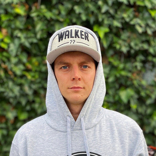 WALKER22 Grey Flatpeak Cap