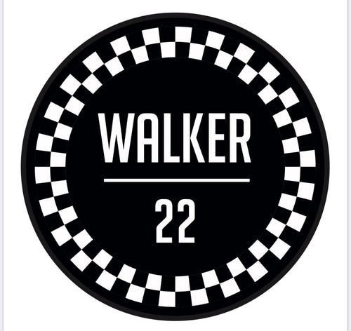 WALKER22 RACING Stickers (black)