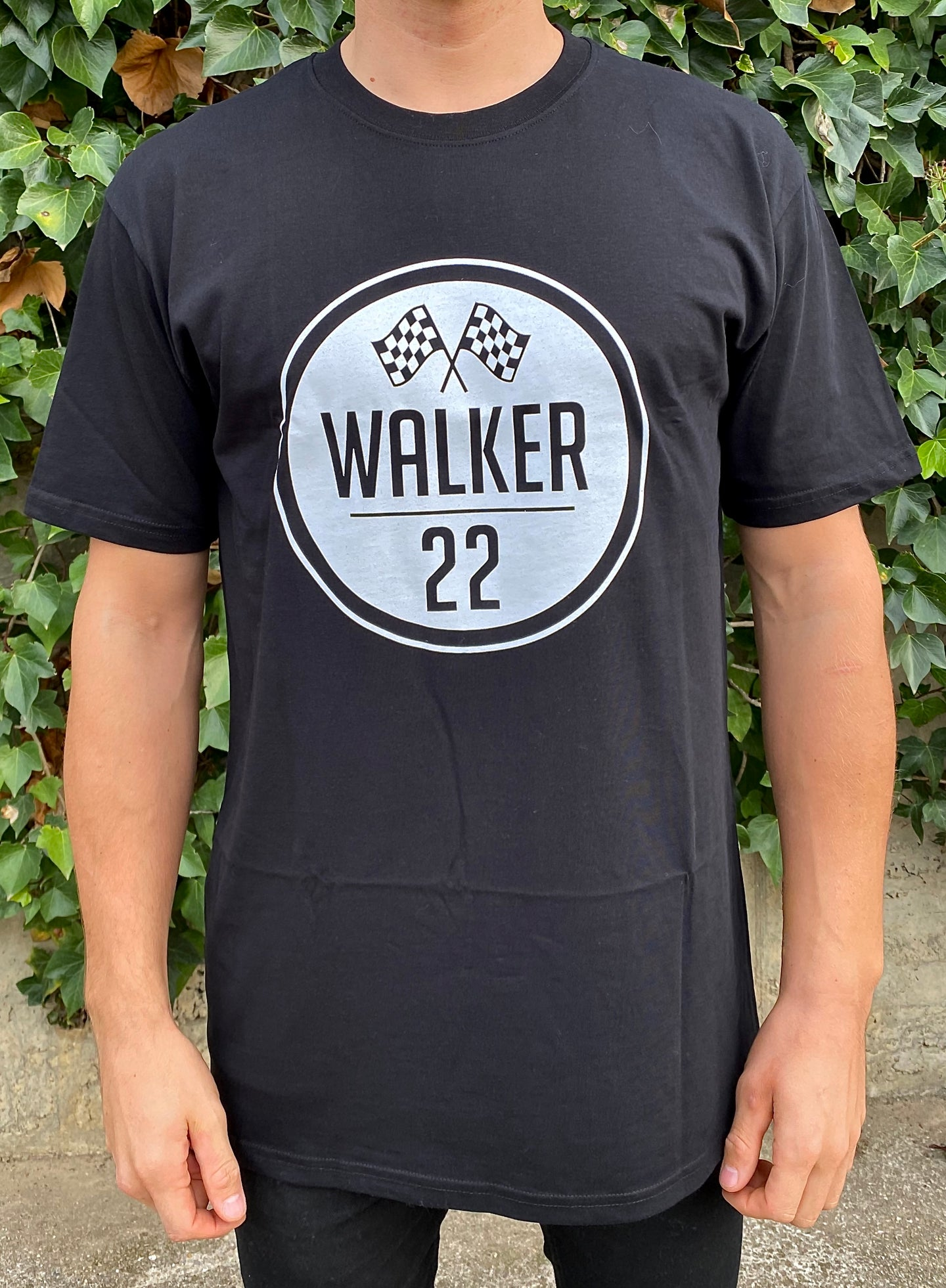KIDS WALKER 22 FLAG Black Tee