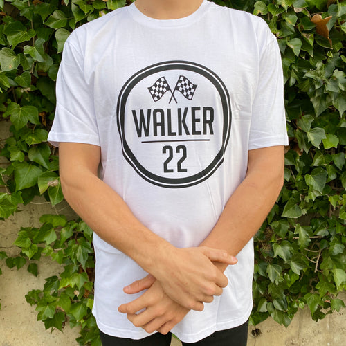KIDS WALKER 22 FLAG White Tee