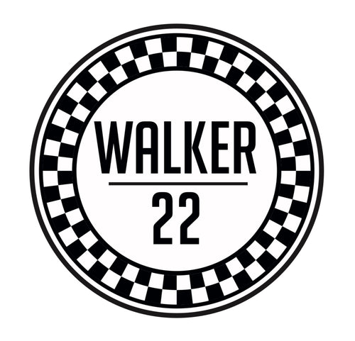WALKER22 RACING Stickers (white)