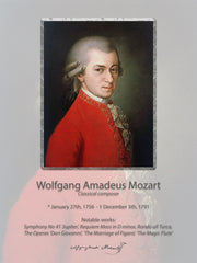 Wall poster W.A. Mozart