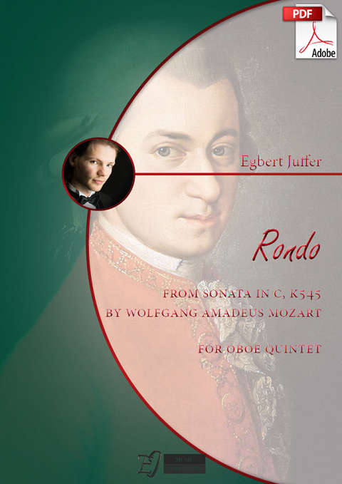 Egbert Juffer: Rondo from Sonata in C, K545 by Wolfgang Amadeus Mozart for Oboe Quintet (.PDF)