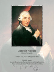 Wall poster J. Haydn