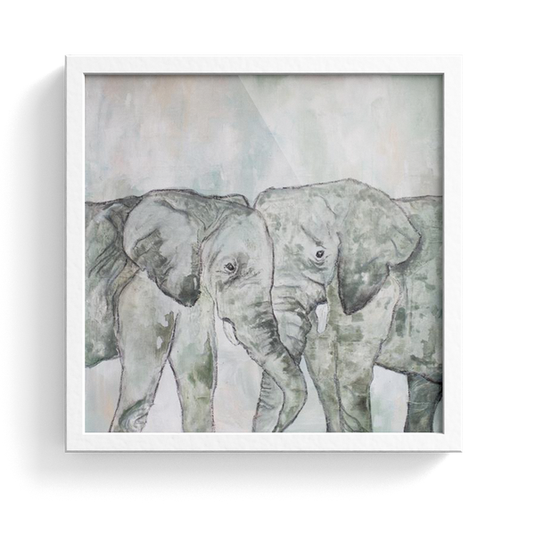 """Grieving Together"" Elephant Print"
