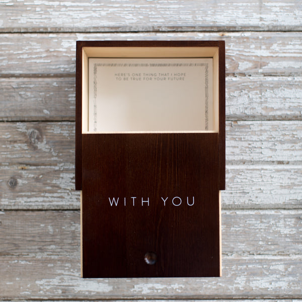 """With You"" Wooden Box"