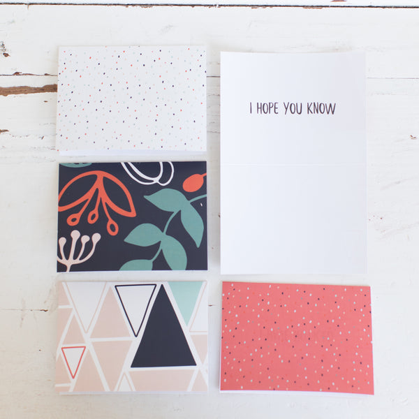 Encouragement Cards - Pink + Green