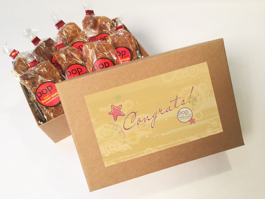 Congratulations gifts | gift box  | p.o.p. candy co.