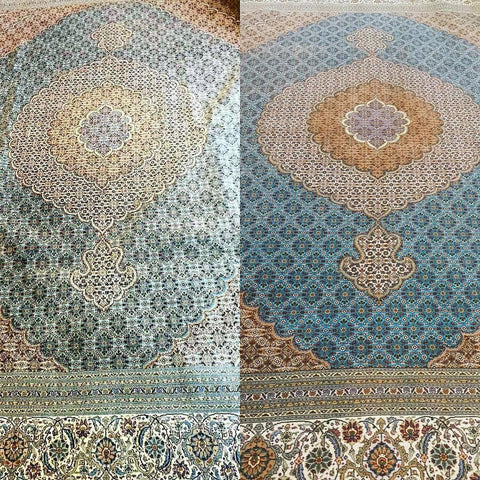 Rug cleaning before and after photo